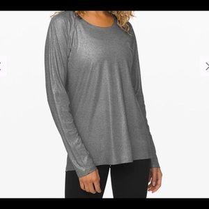 Lululemon Emerald Long Sleeve shine top